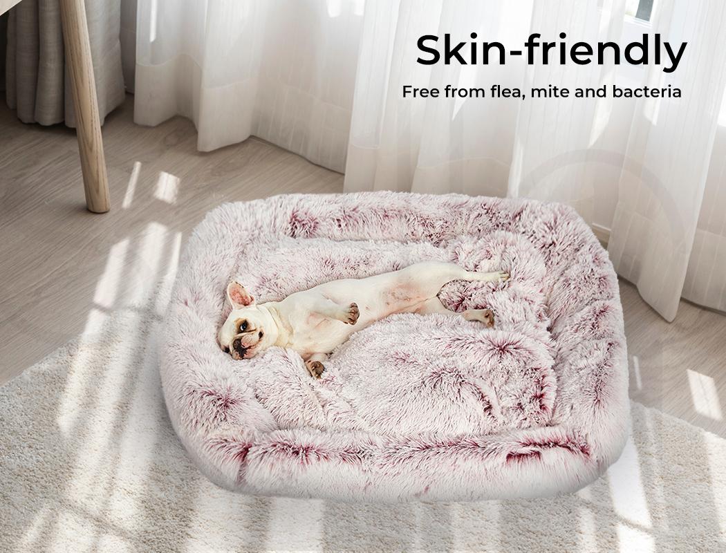 thumbnail 87 - PaWz Jumbo Pet Bed Cat Dog Donut Nest Calming Plush Kennel Washable Sleeping