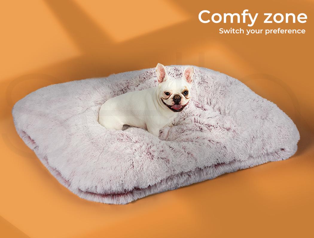 thumbnail 88 - PaWz Jumbo Pet Bed Cat Dog Donut Nest Calming Plush Kennel Washable Sleeping