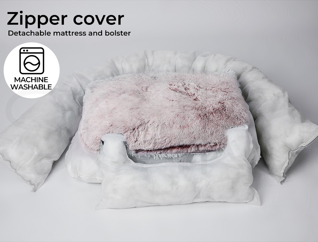 thumbnail 89 - PaWz Jumbo Pet Bed Cat Dog Donut Nest Calming Plush Kennel Washable Sleeping