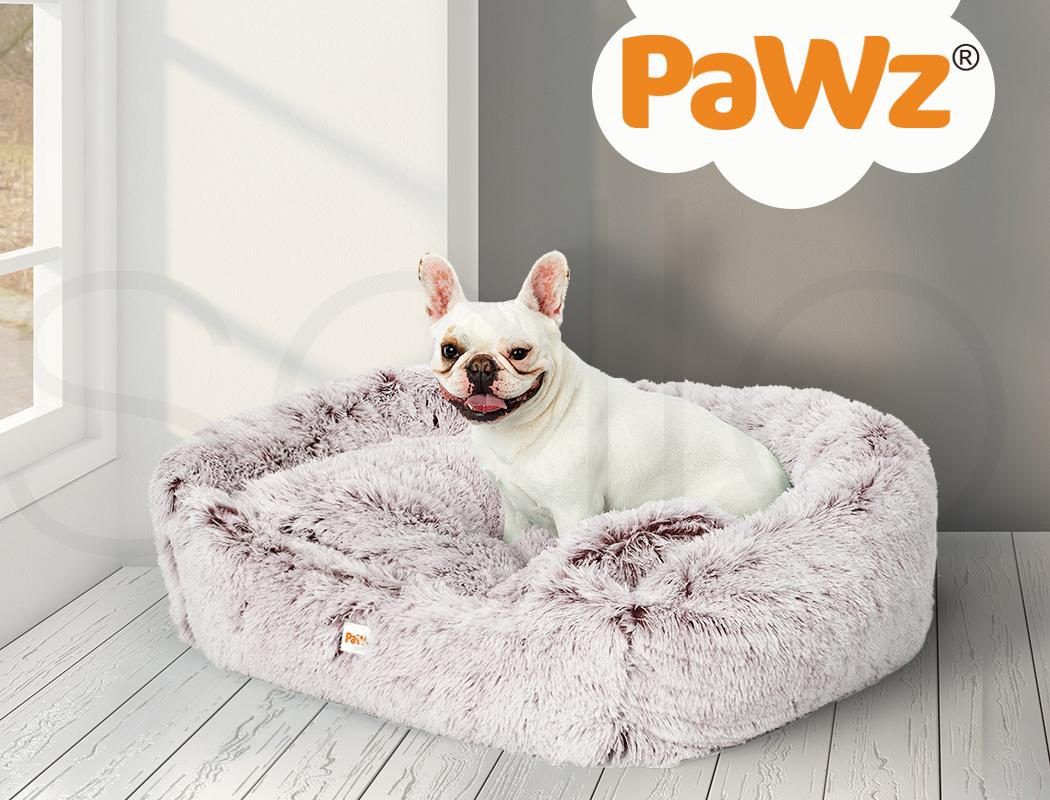 thumbnail 90 - PaWz Jumbo Pet Bed Cat Dog Donut Nest Calming Plush Kennel Washable Sleeping