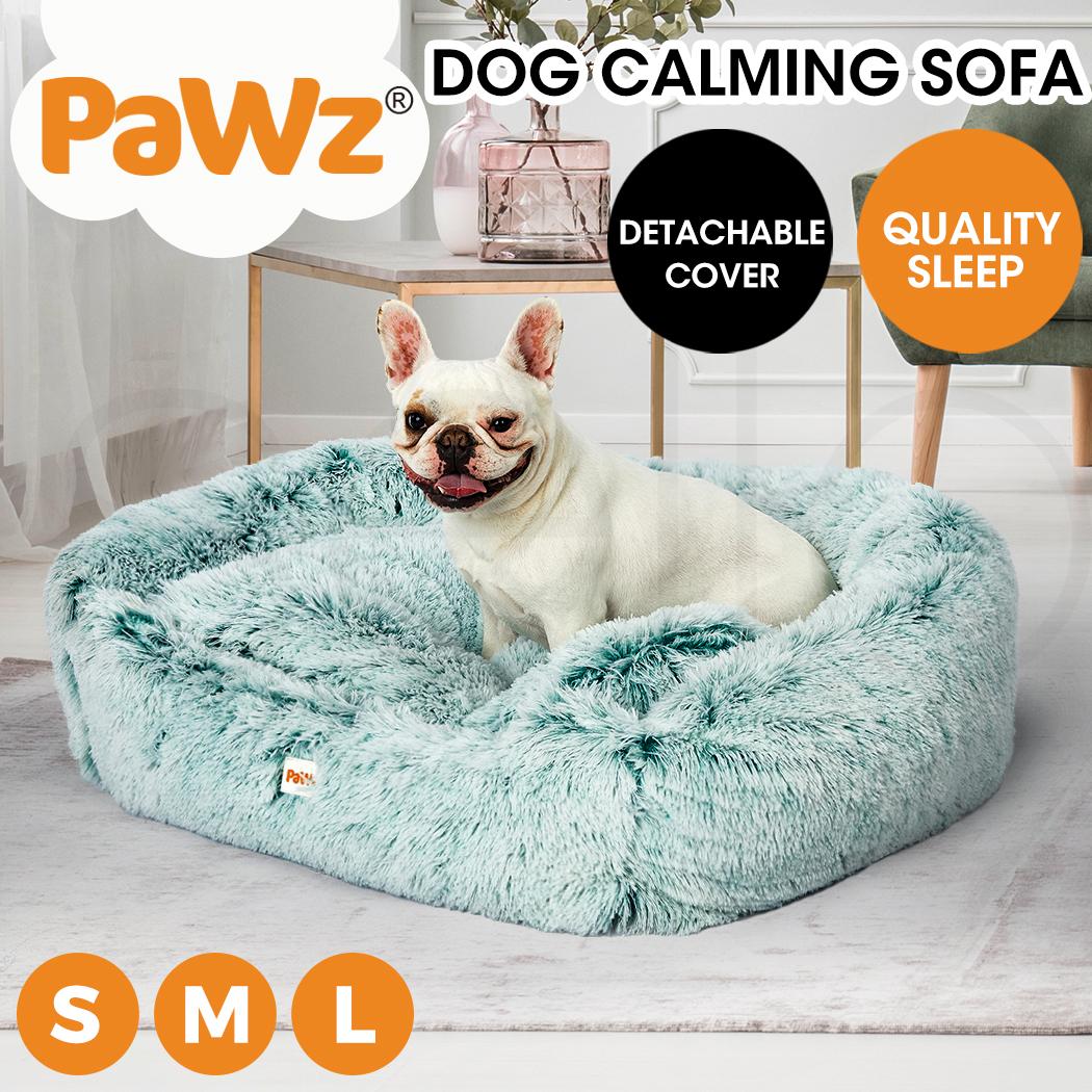 thumbnail 103 - PaWz Jumbo Pet Bed Cat Dog Donut Nest Calming Plush Kennel Washable Sleeping