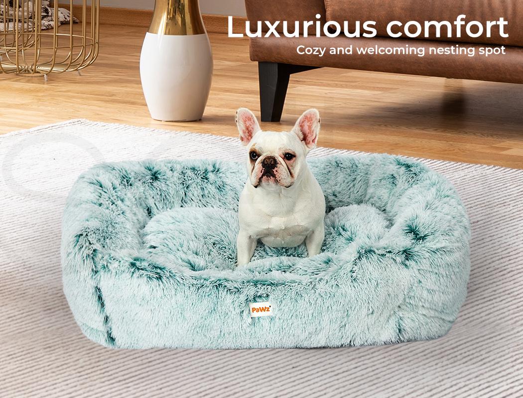 thumbnail 95 - PaWz Jumbo Pet Bed Cat Dog Donut Nest Calming Plush Kennel Washable Sleeping