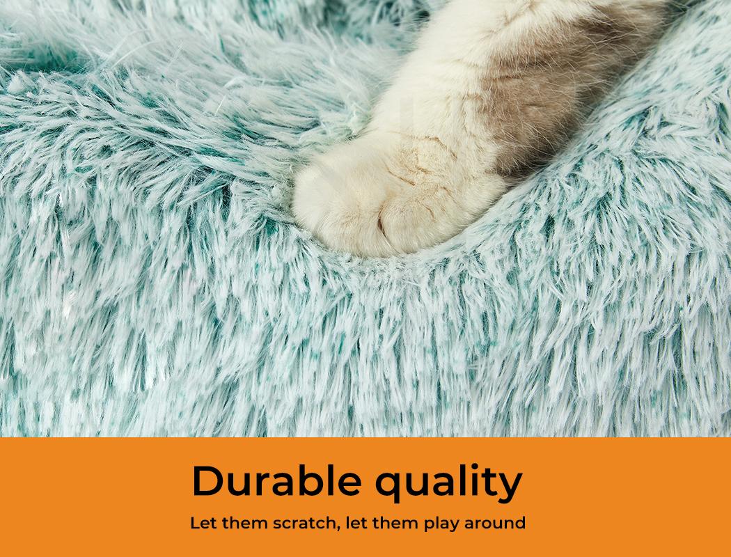 thumbnail 96 - PaWz Jumbo Pet Bed Cat Dog Donut Nest Calming Plush Kennel Washable Sleeping