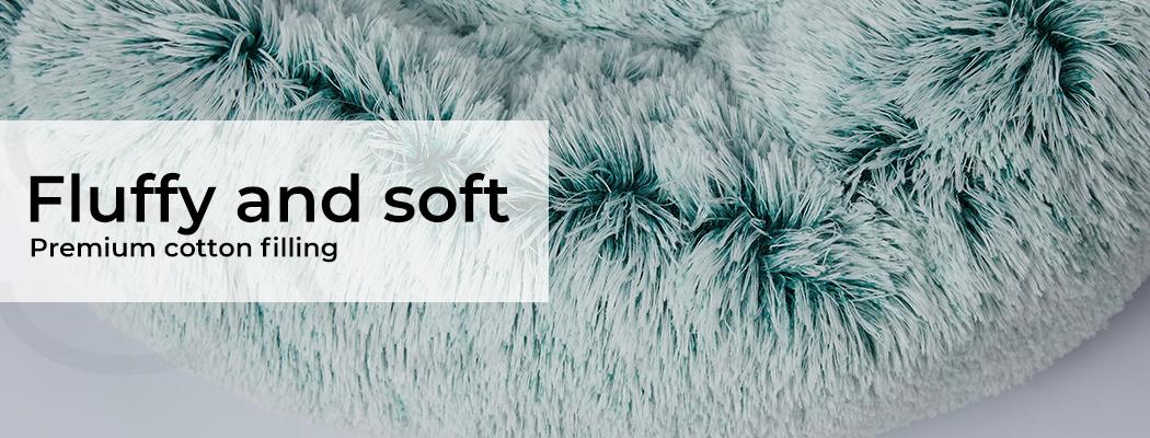 thumbnail 97 - PaWz Jumbo Pet Bed Cat Dog Donut Nest Calming Plush Kennel Washable Sleeping
