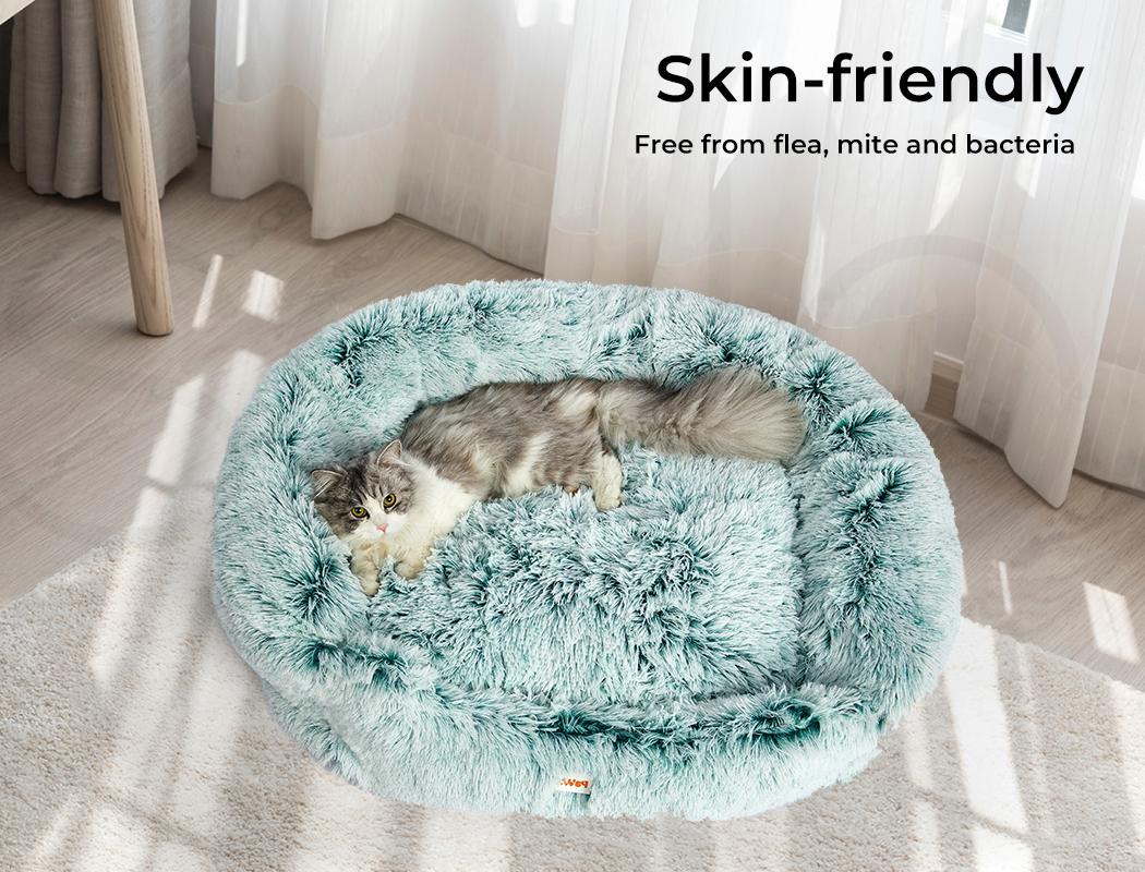 thumbnail 99 - PaWz Jumbo Pet Bed Cat Dog Donut Nest Calming Plush Kennel Washable Sleeping