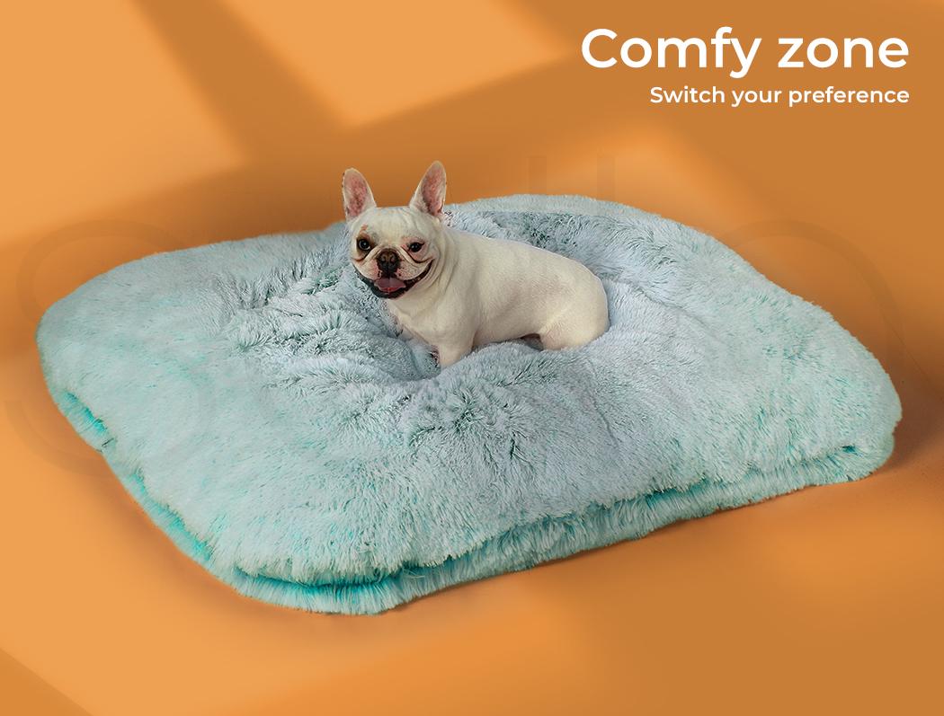 thumbnail 100 - PaWz Jumbo Pet Bed Cat Dog Donut Nest Calming Plush Kennel Washable Sleeping