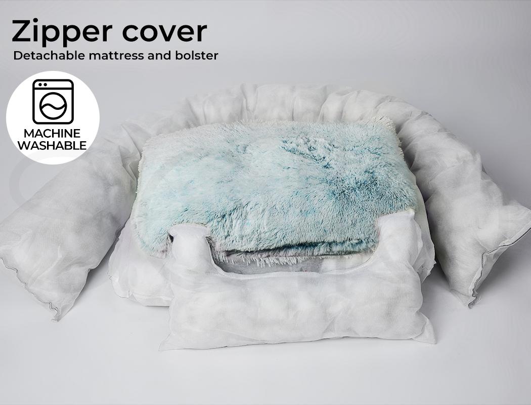 thumbnail 101 - PaWz Jumbo Pet Bed Cat Dog Donut Nest Calming Plush Kennel Washable Sleeping
