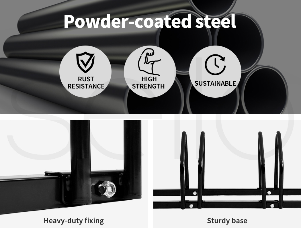 thumbnail 19 - Monvelo 1-6 Bike Stand Bicycle Rack Storage Floor Parking Holder Cycling Stands