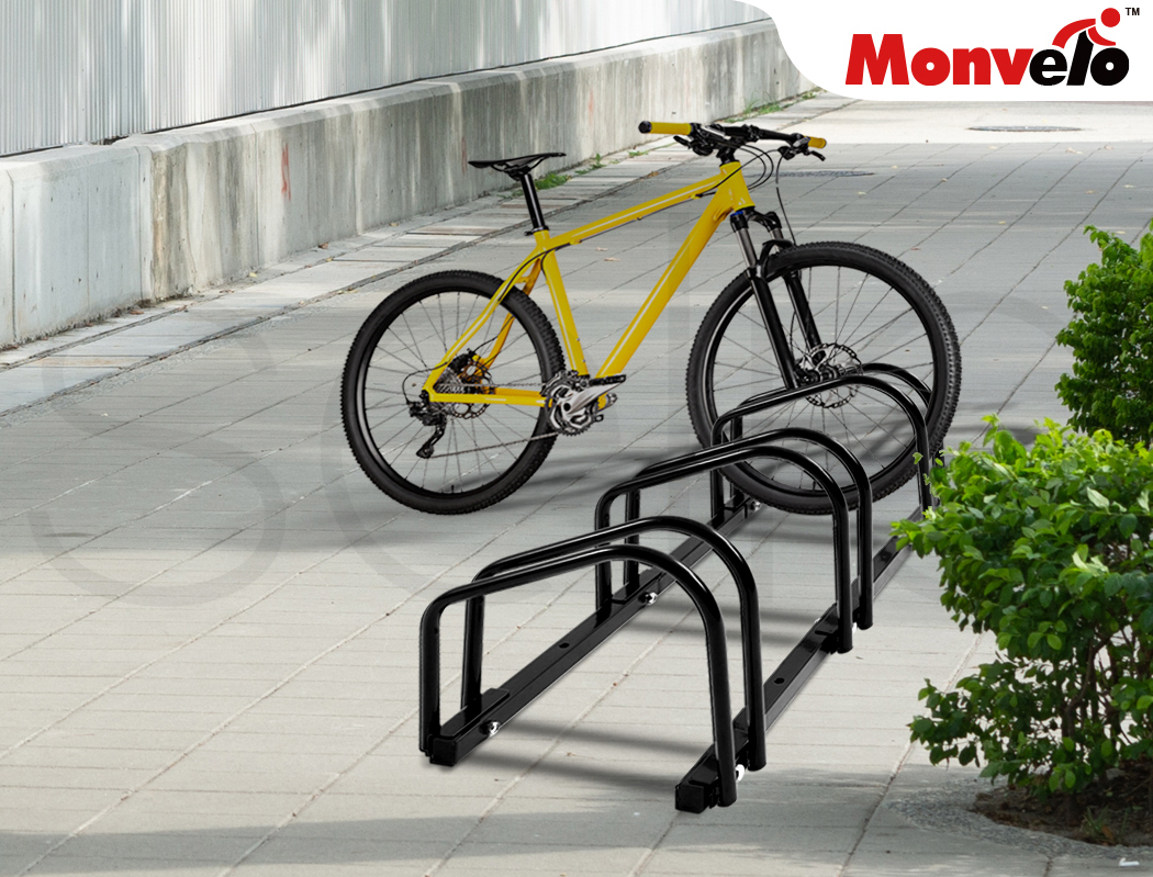 thumbnail 23 - Monvelo 1-6 Bike Stand Bicycle Rack Storage Floor Parking Holder Cycling Stands