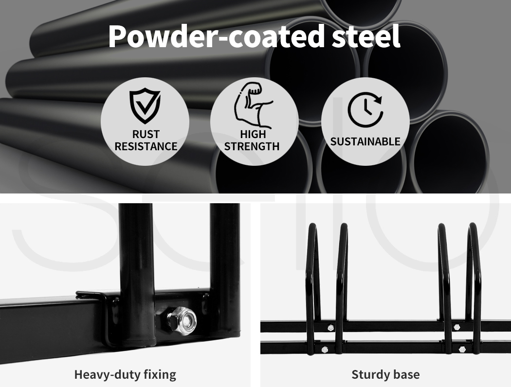thumbnail 31 - Monvelo 1-6 Bike Stand Bicycle Rack Storage Floor Parking Holder Cycling Stands