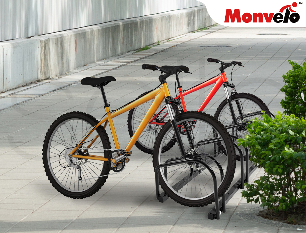 thumbnail 35 - Monvelo 1-6 Bike Stand Bicycle Rack Storage Floor Parking Holder Cycling Stands