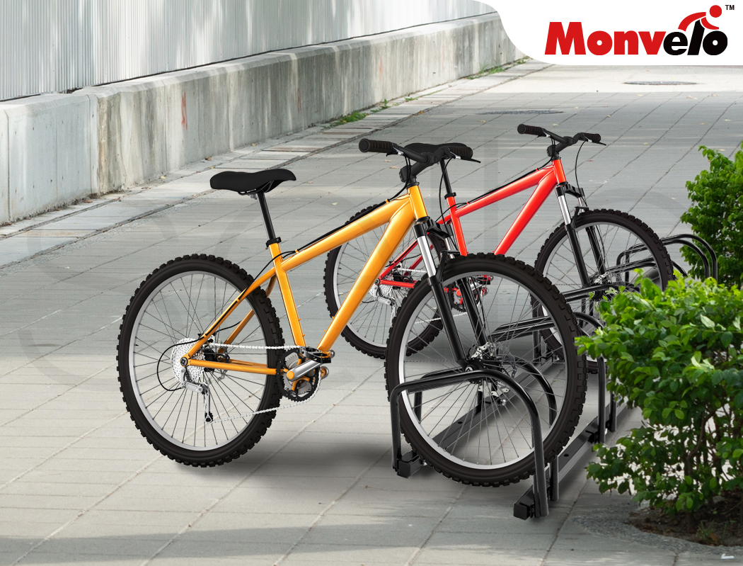 thumbnail 47 - Monvelo 1-6 Bike Stand Bicycle Rack Storage Floor Parking Holder Cycling Stands