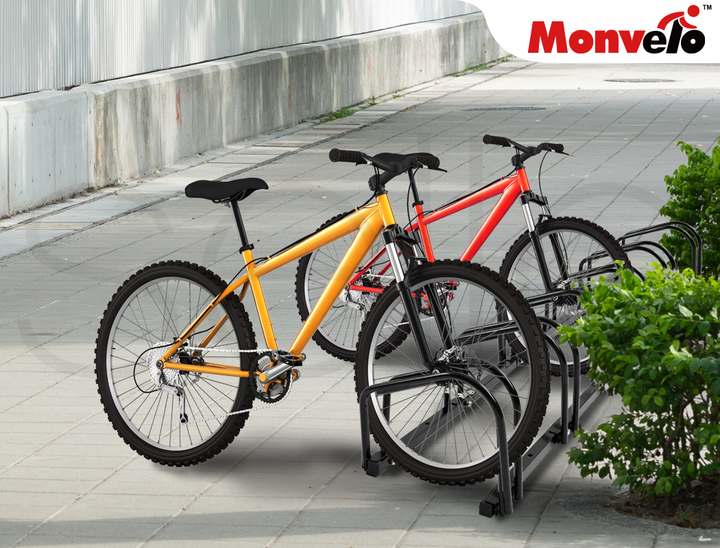 thumbnail 59 - Monvelo 1-6 Bike Stand Bicycle Rack Storage Floor Parking Holder Cycling Stands