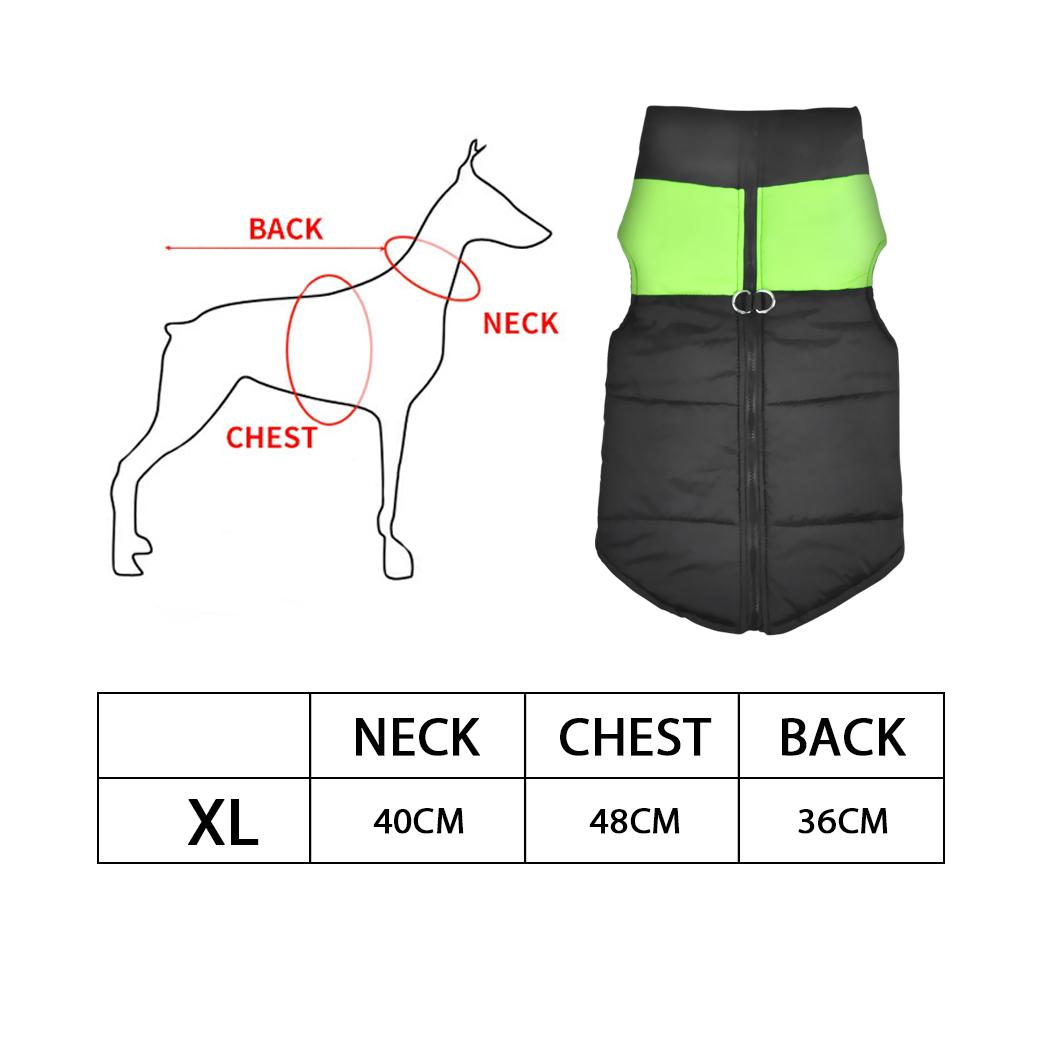 thumbnail 32 - PaWz Dog Jacket Large Pet Jackets Coat Waterproof Clothes Winter Vest Green